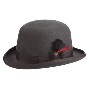 6d25ece70d6 Image is loading Mens-Scala-Charcoal-Wool-Felt-Derby-Hat-WF506