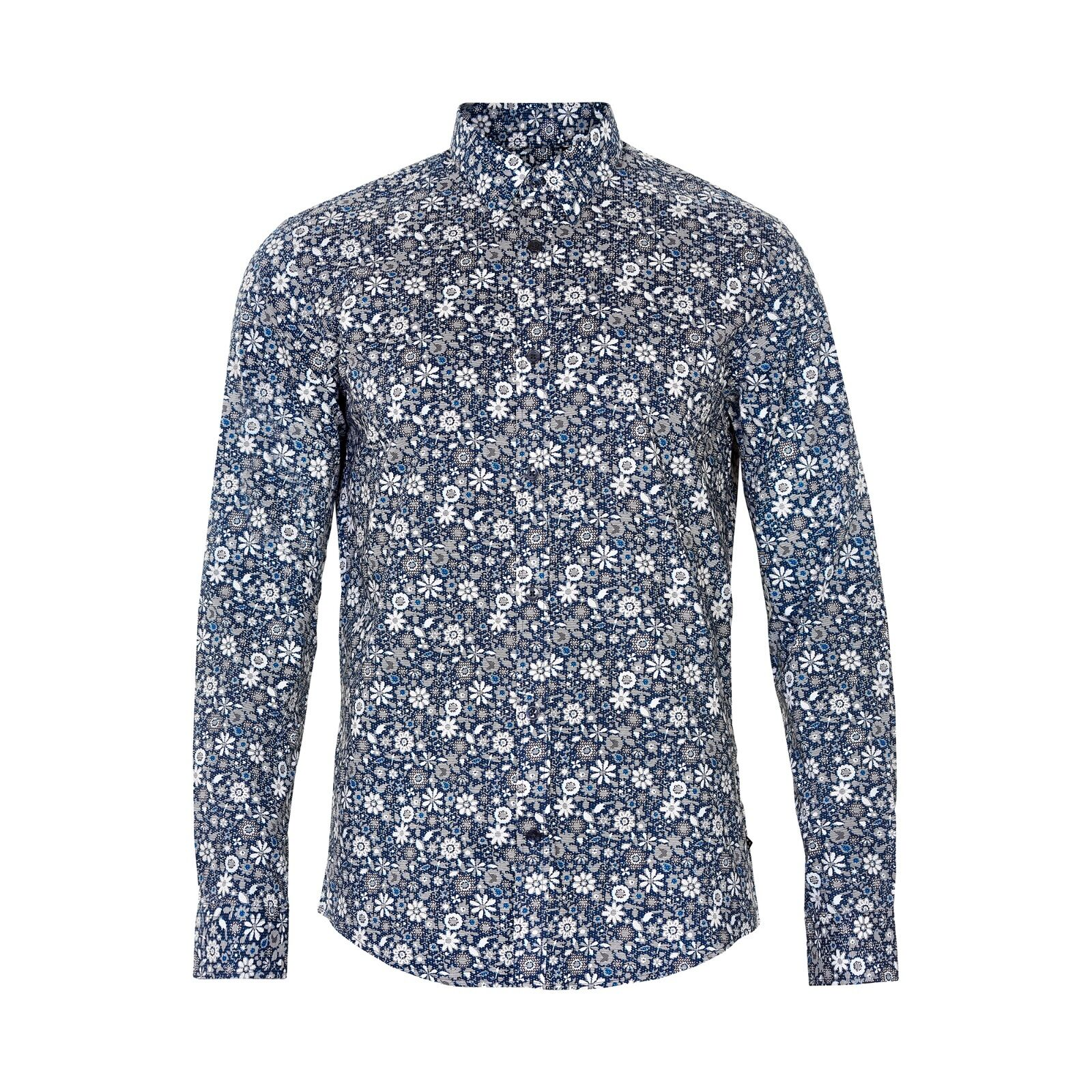 Matinique trostol organici di stampa shirt Chambrey Blu - 3XL NUOVI SS17