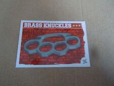 Carte catch Slam Attax Mayen 2010 Rouge - Brass Knuckles