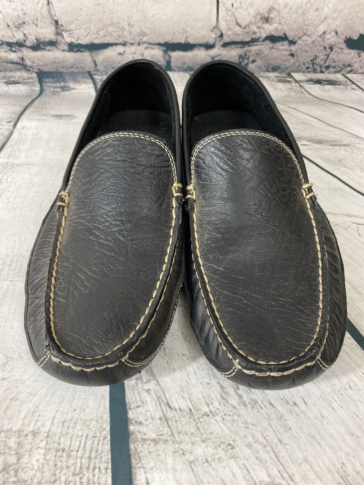 bison leather driving moccasins