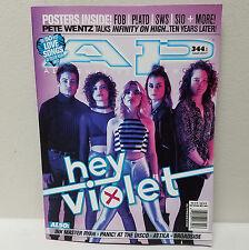 HEY VIOLET AP ALTERNATIVE PRESS MAGAZINE March 2017 Issue 344 Cover 1 FOB Attila