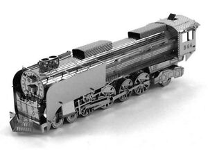 Details about Steam Locomotive: Metal Earth 3D Laser Cut Train Miniature  Model Kit 2 sheet
