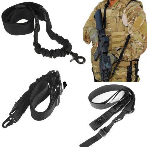 Tactical Adjustable Hunting 1 2 3 Point Rifle Sling Strap System F Rifle Shotgun