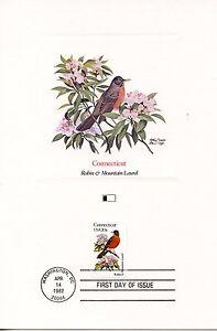 First Day Of Issue / Fdc / Oiseaux & Fleurs Des 50 Etats Des Usa / Connecticut De Bons Compagnons Pour Les Enfants Comme Pour Les Adultes