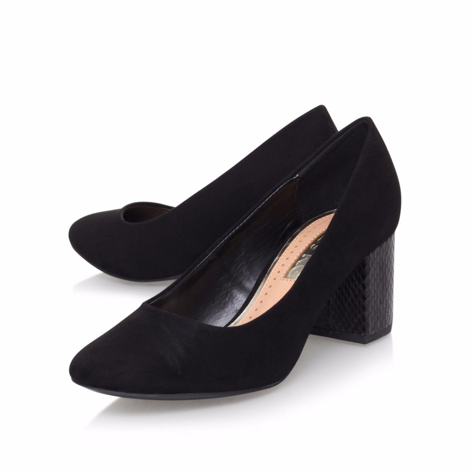 16c0ae24d01 Miss Kg Kurt Geiger Connie Black Mid Heel Court Shoes UK 4 EU 37 ...