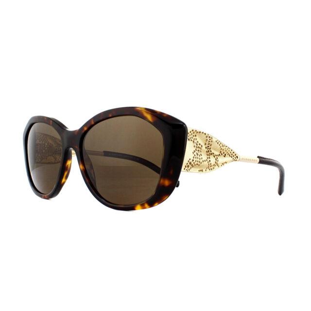 6b47ec7bd8 Burberry Women Be4208q 300273 Havana Metal Cat Eye Sunglasses