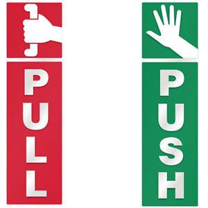 Push And Pull Door Window 2 Option Vinyl Decal Information