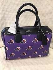 NWT Coach Mini Bennett Satchel In Badlands Rose Floral Print Purple F55464