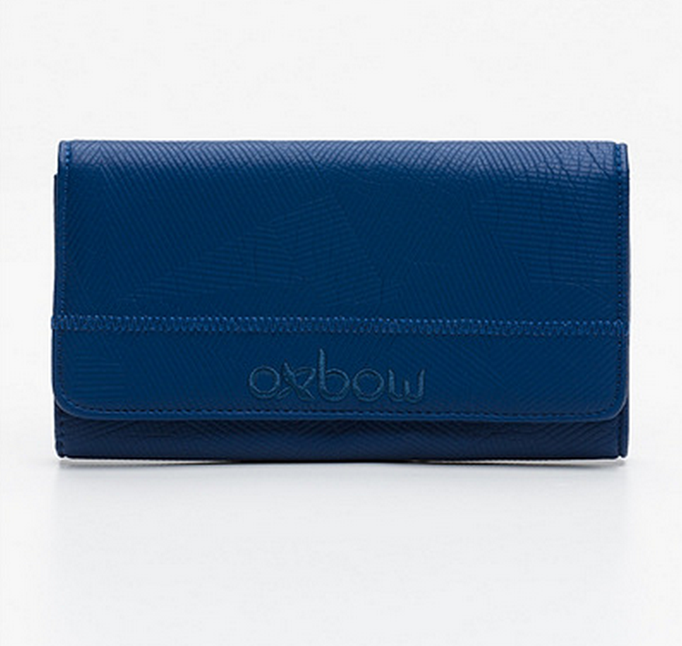 New oxbow companion blue pouch wallet leather look tote all