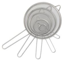 Beautiful Kitchen Strainers Set Of 5   Stainless Steel Fine Mesh Sifter Silver By  Eternal