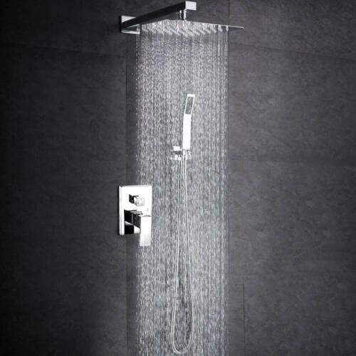 Shower Faucet Set 8 inch Rainfall Shower Head With Hand Shower Sprayer Mixer Tap