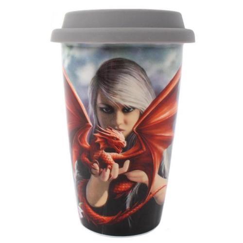 Anne Stokes Ceramic travel mug Tea Coffee Dragon//Angel//Unicorn//Wolf gothic cup