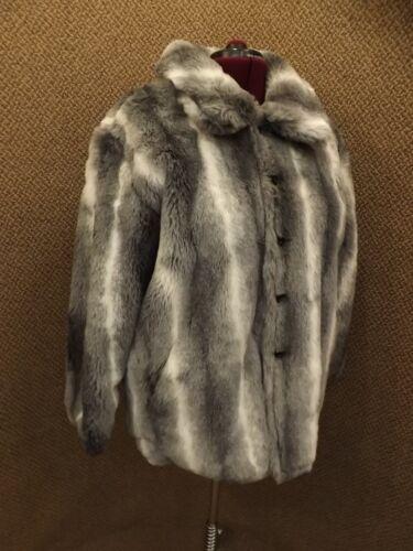 Ny Coat 20 Chinchilla 18 Smuk Komitor Sz Plysj Faux Fur Reversible Kvinder 1SwqdZ