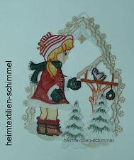 PLAUENER SPITZE ® Fensterbild VOGELHAUS Fensterbilder WINTER Weihnachten KIND