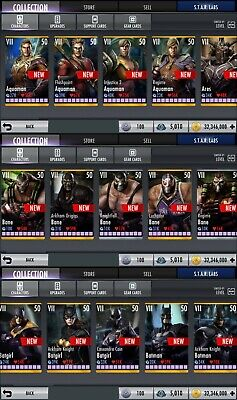 Injustice God Among Us Android Ios Fully Maxed Account All Gears All Characters Ebay