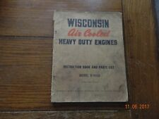 Wisconsin Air Cooled Engines V 460d Instruction Book And Parts List