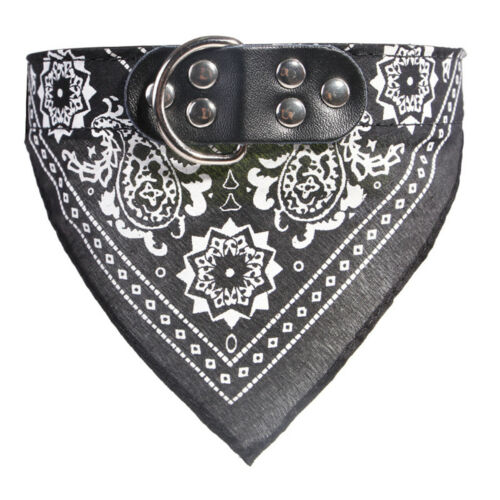 Dog Cat Pet Puppy Neck Scarf Bandana With Collar Neckerchief New S-XXL