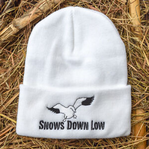 deb06a25264 Image is loading Snow-Goose-Hunting-Beanie-Snows-Down-Low