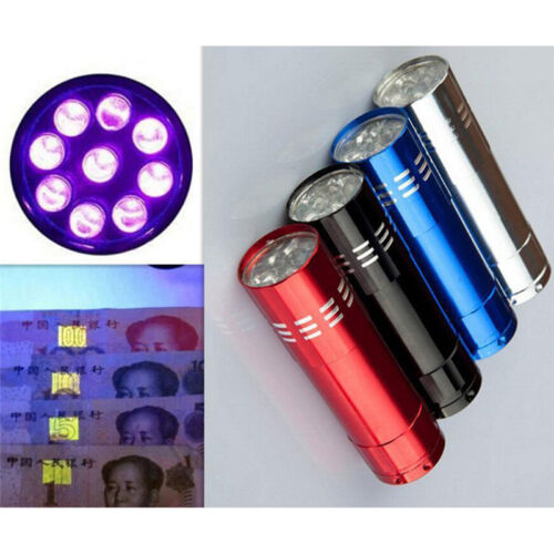 Mini Aluminum UV Ultravlolet LED Flashlight  Black light Torch Light Lam FO