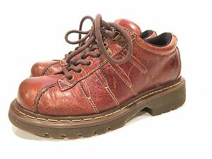 Dr-Martens-Womens-Grizzly-Brown-Leather-Oxford-Shoes-Size-7