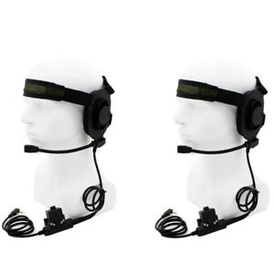 2X-CS-HD01-Z-Tactical-Headset-Earpiece-U94-PTT-BaoFeng-UV5R-Kenwood-WalkieTalkie