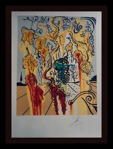 DALI Portrait of Autumn Hand Signed Numbered Lithograph Surrealism ART