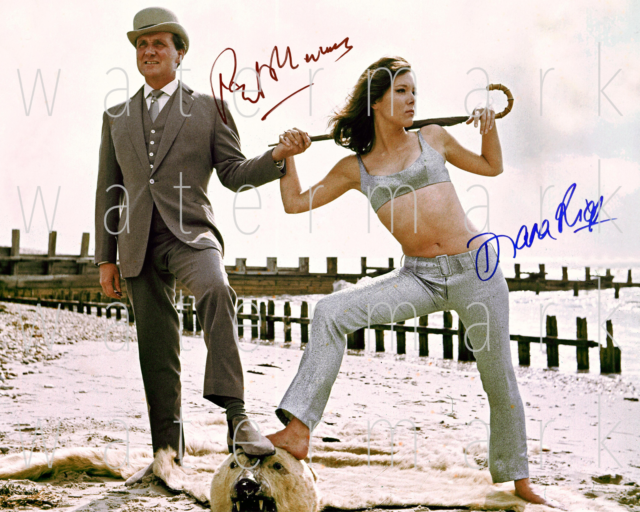 The Avengers Emma Peel signed Diana Rigg 8X10 photo picture poster autograph RP