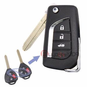 Modify Flip Remote Key Fob 314.3MHz G Chip for Toyota Rav4 Yaris FCC:HYQ12BBY