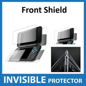 Nintendo-2DS-XL-Screen-Protector-Invisible-FRONT-and-BACK-Shield-Military