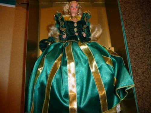 Barbie Doll Evergreen Princess Blonde 12123 NIP Green Fashion Gown 1994 NIP Gold