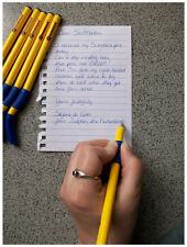 Swanneck Left Handed Ball Point Pen - Black ink yellow barrel Single pen
