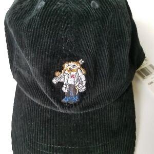 Polo-Ralph-Lauren-Boy-039-s-Polo-Ski-Bear-Cap-Size-4-Black-Corduroy-Baseball-Cap
