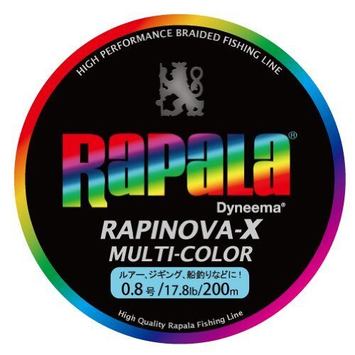 Rapala RAPINOVA-X MULTI COLOR 4 Braid PE Line Weight, length, variation