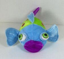 """Sugar Loaf Fish Plush Big Eyes Lips Blue Green Purple 8"""" 2006 Coinstar"""