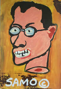 Jean-Michel-Basquiat-Untitled-SAMO-Postcard-Style-acrylic-painting
