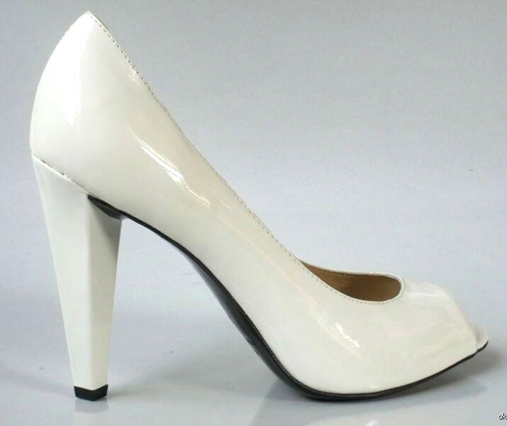 NIB MARC JACOBS cream peep-toe pumps heels shoes 36 6 - wedding