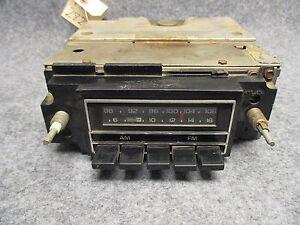 Delco-GM-AM-FM-Push-Button-Radio-UNTESTED-CORE-Model-Unknown-28227
