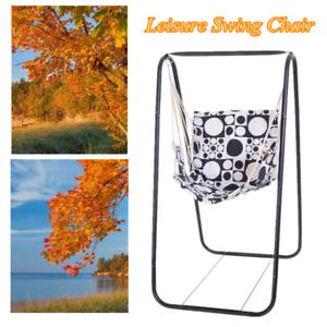 150KG Leisure Swing Chair Home Garden Hammock Chair Steel Frame Stand