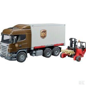 Bruder Scania Transport Truck And Forklift Maquette à l'échelle 1:16