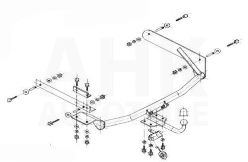 es 7p ABE Pour Renault Laguna I 5-tür attelage rigide