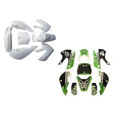 Dirt Bike Plastic Fender Fairing+Decals Sticker for Kawasaki KLX110 DRZ KX65