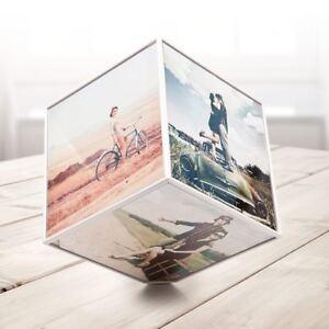 Cadre-Pivotant-pour-6-Photos-15x15cm-Necessite-une-a-Titulaire-Original-Nouvelle