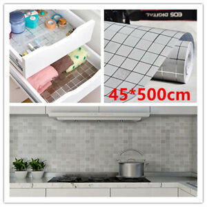 5M-Silver-Mosaic-Wall-Stickers-Vinyl-Self-Adhesive-Furniture-Kitchen-DIY-Decor