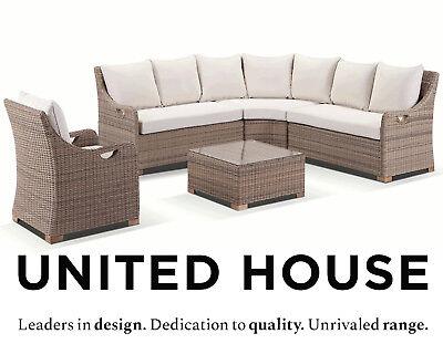 Large Outdoor Wicker Modular Corner Lounge Sofa Cane Country Furniture  Setting | eBay