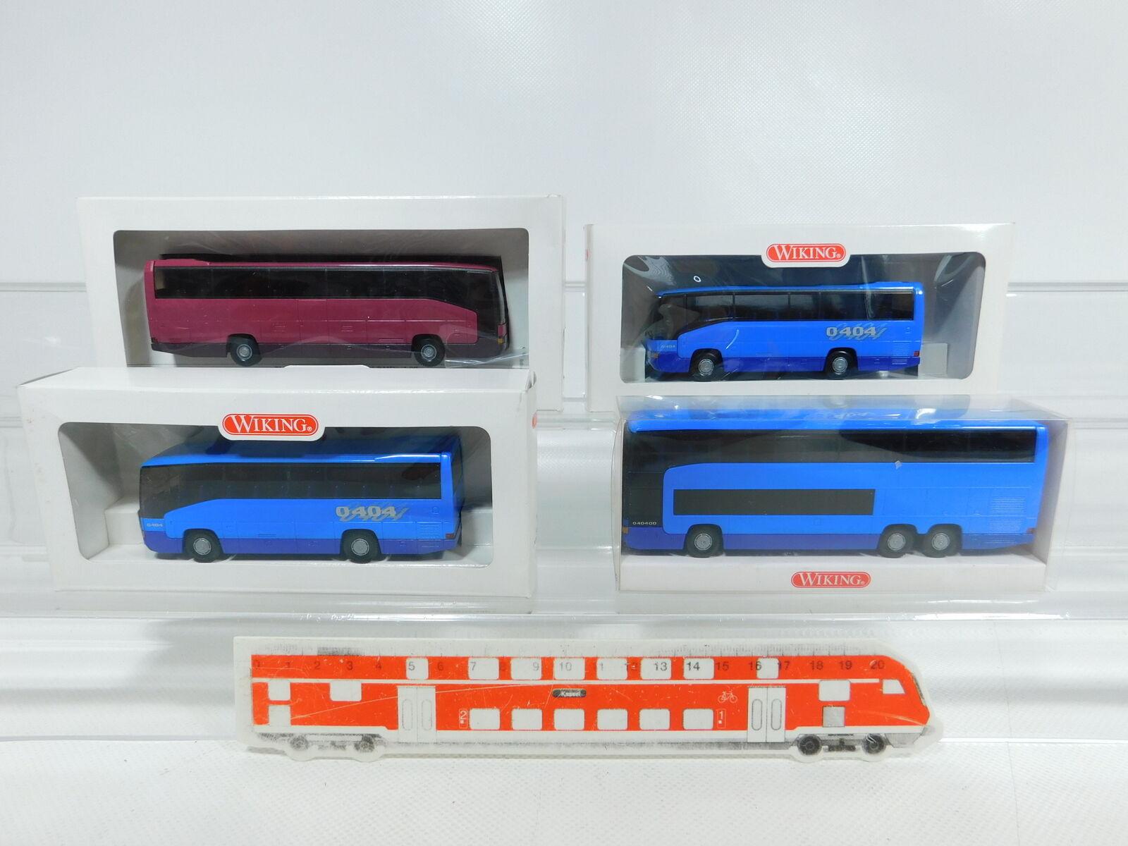 BV954-0,5 x Wiking H0   1 87 Bus MB  713 01 +715 01 37 +714 01,Very Good +Box