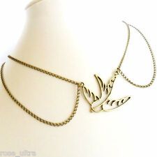 Peter Pan Collar Necklace Vintage Style Antique Bronze Chain Pearl Choker