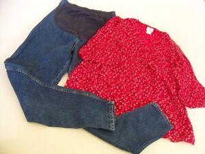 3c071a9de526d Set Womens Size 6 Maternity Pants Santa Fe Blue Front Panel & Oh ...