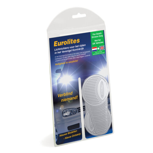 Eurolites Anti Scorch Headlamp Headlight Beam Reflectors Adaptors DUTCH to UK