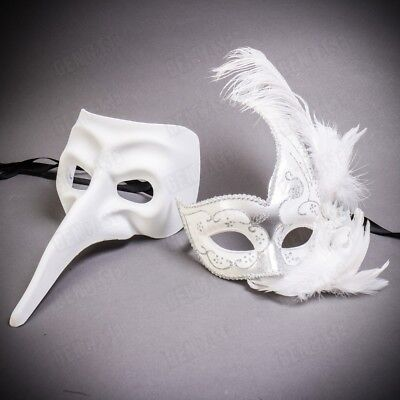 2pc Women Masquerade Mask Happy Halloween Party Balls Black Prom Party Eye Masks