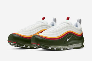 reputable site c19e4 56746 Details about 2019 NIKE AIR MAX 97 SE WHITE/DYNAMIC YELLOW-EVERGREEN  CK0224-100 RUNNING